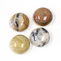 Gemstone Cabochon - Round 16MM MEXICAN CRAZY LACE AGATE