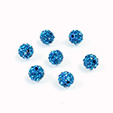 Rhinestone Bead Pave with 1.0MM Hole Metal Base Round 06MM BLUE ZIRCON
