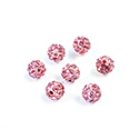 Rhinestone Bead Pave with 1.0MM Hole Metal Base Round 06MM LT ROSE