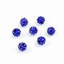 Rhinestone Bead Pave with 1.0MM Hole Metal Base Round 06MM SAPPHIRE