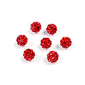 Rhinestone Bead Pave with 1.0MM Hole Metal Base Round 06MM SIAM RUBY