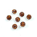 Rhinestone Bead Pave with 1.0MM Hole Metal Base Round 06MM SMOKE TOPAZ