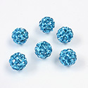 Rhinestone Bead Pave with 1.5MM Hole Metal Base Round 08MM AQUA