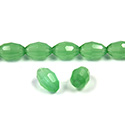 Chinese Cut Crystal Bead - Oval 09x6MM OPAL GREEN