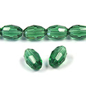 Chinese Cut Crystal Bead - Oval 11x8MM DARK EMERALD