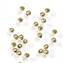 Brass Beads - Smooth Round 02.4MM Raw Unplated Finish