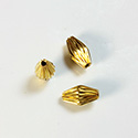 Brass Corrugated Bead - Standard Bicone 10x9MM RAW Unplated