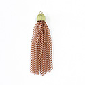 Copper Coated 2-inch Steel Tassel with Brass Cap