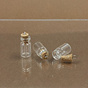 Glass Bottle with Cork Stopper & eye pin 10X18MM