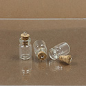 Glass Bottle with Cork Stopper & eye pin 12X18MM