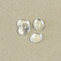 Glass Cabochon Unfoiled - Oval 10x8MM CRYSTAL
