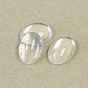 Glass Cabochon Unfoiled - Oval 18x13MM CRYSTAL