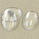 Glass Cabochon Unfoiled - Oval 25x18MM CRYSTAL