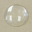 Glass Cabochon Unfoiled - Round 35MM CRYSTAL
