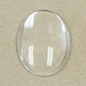 Glass Cabochon Unfoiled - Oval 40x30MM CRYSTAL
