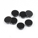 Gemstone Flat Back Flat Top Straight Side 1.5mm Thick Stone - Round 08MM BLACK ONYX
