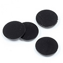 Gemstone Flat Back Flat Top Straight Side 1.5mm Thick Stone - Round 15MM BLACK ONYX