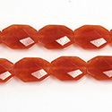Gemstone Bead - Faceted Octagon 18x13MM Dyed QUARTZ Col. 20 LT CORNELIAN