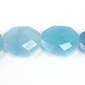 Gemstone Bead - Faceted Octagon 25x20MM Dyed QUARTZ Col. 136 AMAZONITE