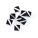 Gemstone Flat Back Flat Top Straight Side INLAY DESIGN - Diagonal Stripe Square 07x7MM BLACK ONYX/MOP
