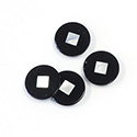 Gemstone Flat Back Flat Top Straight Side INLAY DESIGN - Round 12.4MM ONYX/MOP
