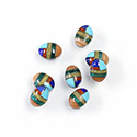 Gemstone Flat Back Inlay Buff Top Straight Side Stone - Oval 08x6MM MULTI COLOR