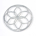 Metal Filigree Link Connector - Flat Round 41MM SILVER