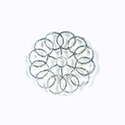 Metal Filigree Link Connector - Flat Round 24MM SILVER
