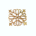 Metal Filigree Link Connector - Flat Square 23x23MM BRASS