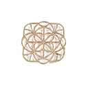 Metal Filigree Link Connector - Flat Square 24x24MM BRASS