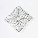 Metal Filigree Link Connector - Flat Square 24x24MM SILVER