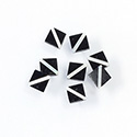 Gemstone Flat Back Flat Top Straight Side INLAY DESIGN - Diagonal Stripe Square 6MM ONYX/MOP
