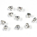 Crystal Stone in Metal Sew-On Setting - Pear 06x4MM MAXIMA CRYSTAL-SILVER