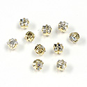 Crystal Stone in Metal Sew-On Setting - Square 04x4MM MAXIMA CRYSTAL-RAW