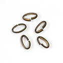 Brass Open Jump Rings - Oval - 12.8x07mm, w 14 Gauge (1.6x2.6mm) half round wire.
