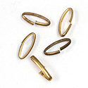 Brass Open Jump Rings - Oval - 17.8x7.3mm, w 14 Gauge (1.6x2.6mm) half round wire.