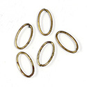 Brass Open Jump Rings - Oval - 16.85x9.25mm, w 17 Gauge (1.15mm) round wire.