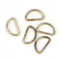 Brass Open Jump Rings - D Rings - 16.75mm x 10.20mm, w 13 Gauge (1.85mm) round wire.