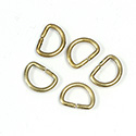 Brass Open Jump Rings - D Rings - 13.75mm x 10.40mm, w 13 Gauge (1.8mm) round wire.