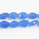 Gemstone Bead - Baroque Small Nugget QUARTZ DYED Col. 12 BLUE