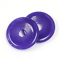 Gemstone Bead - Donut Round 35MM Dyed QUARTZ COL. 17 PURPLE