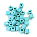 Preciosa Rola Beads - 06.2MM with a 2.2MM Hole LT BLUE TURQUOISE 63030