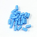 Preciosa Rola Beads - 03.5x7MM with a 1.0MM Hole 63020 LT BLUE TURQUOISE