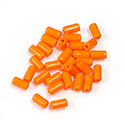 Preciosa Rola Beads - 03.5x7MM with a 1.0MM Hole ORANGE 93140