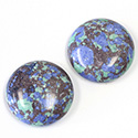 Synthetic Cabochon - Round 25MM Matrix SX11 GREEN-BLUE-BROWN