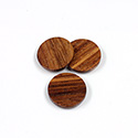 Wood Flat Back FTSS Stones - Round Discs 15MM BAYONG Finished