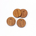 Wood Pendant Smooth Top Drilled 1-Hole Disc 18mm BAYONG