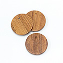 Wood Pendant Smooth Top Drilled 1-Hole Disc 25mm BAYONG