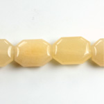 Gemstone Bead - Round Cushion Octagon 19x14MM Dyed QUARTZ Col. 05 BEIGE