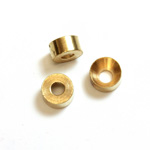 Brass Machine Made Bead - Engraved with Recess Round 09MM RAW BRASS